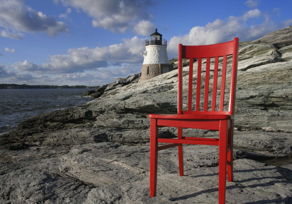 The Red Chair Travels to Newport and the Samuel Durfee House 2